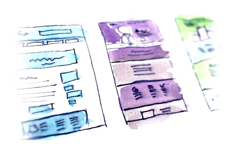our process design process - wireframe design